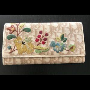 *Authentic* Christian Dior Vintage Flowers Wallet